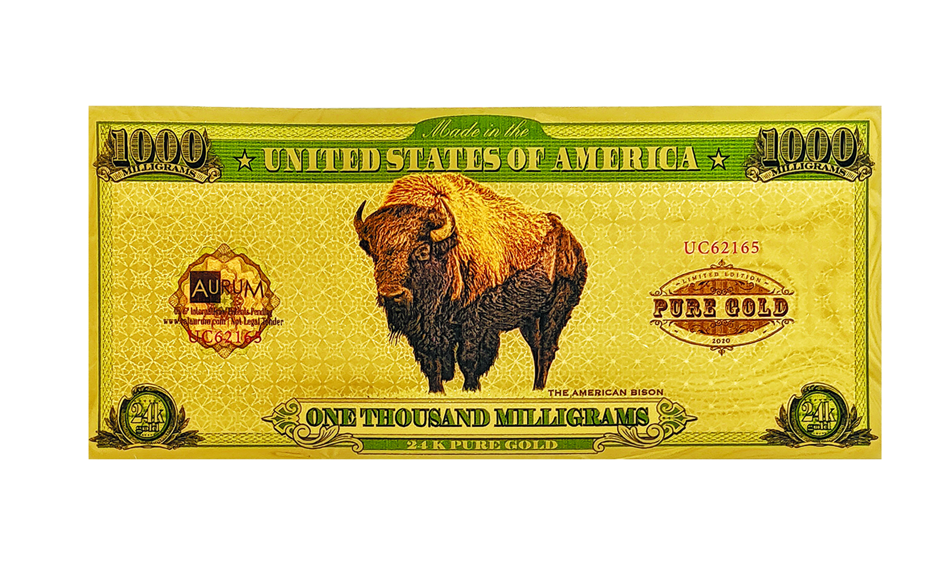 2020 American Bison One Gram Aurum®