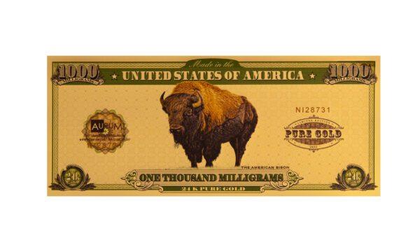 2021 American Bison One Gram Aurum®