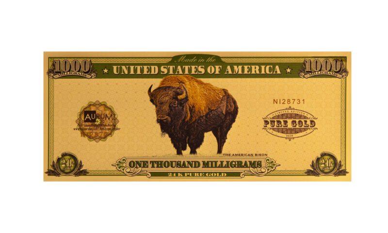 One Gram American Bison Aurum® - Valaurum, Inc.