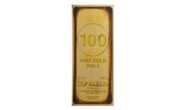 Gold Bar 100 mg