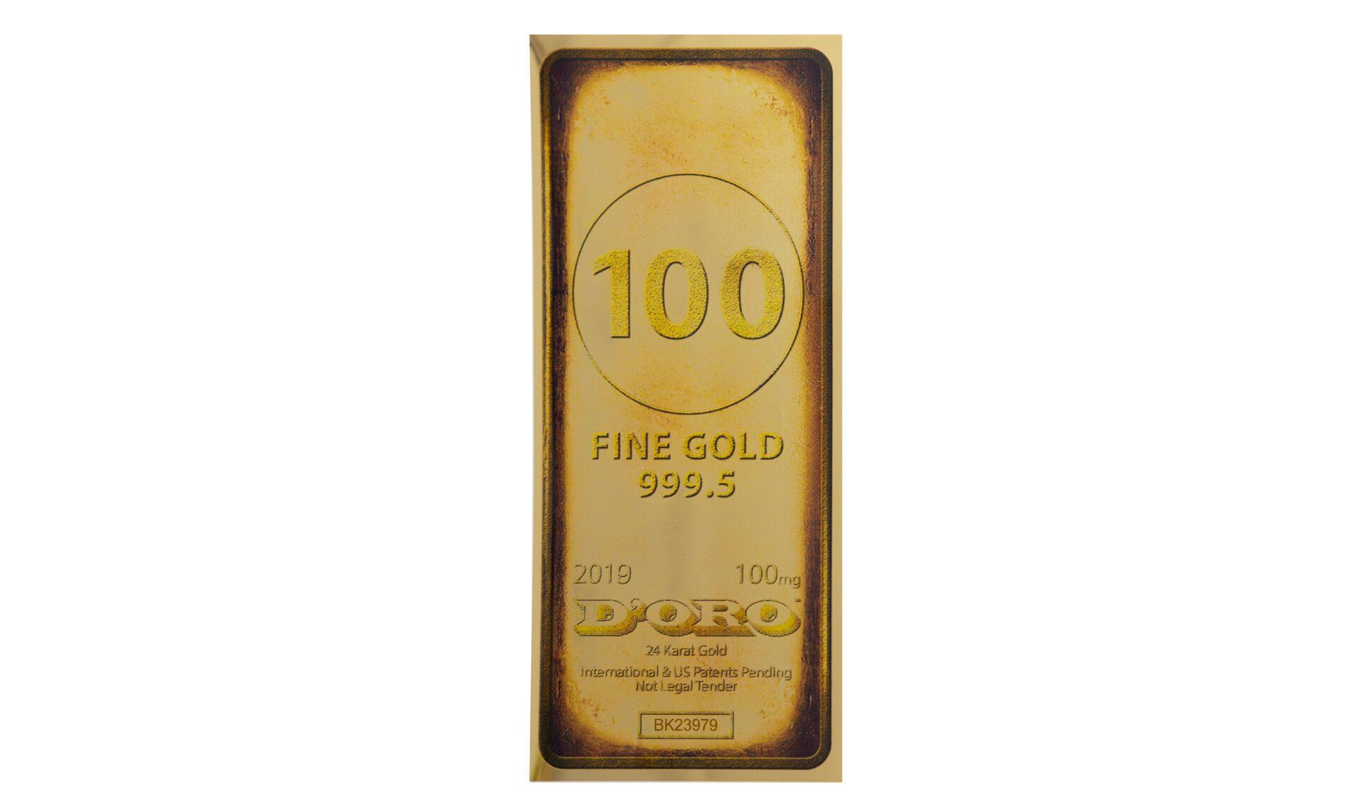 Gold Bar 100 mg